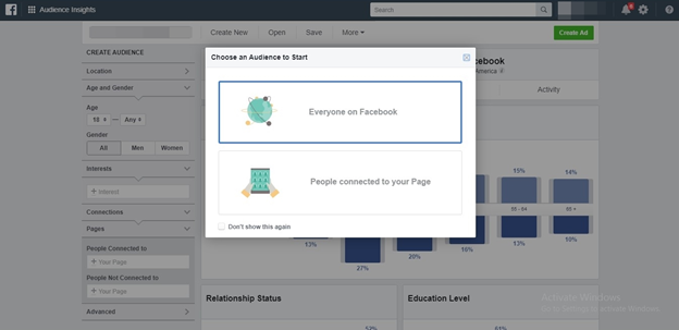 Choose Audeince in FB Insight Tool - Solution Nation