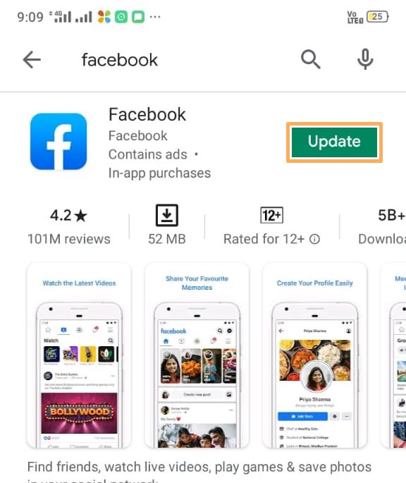 Update Facebook in app - the Solution Nation