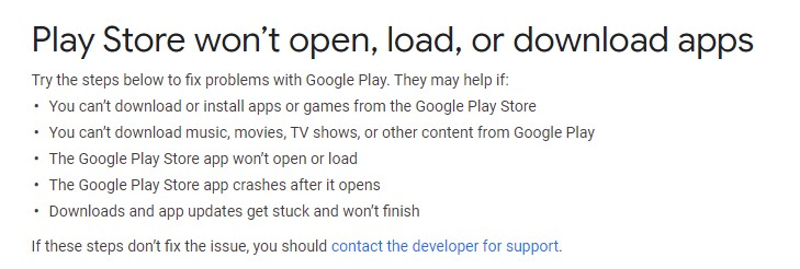 play store issue