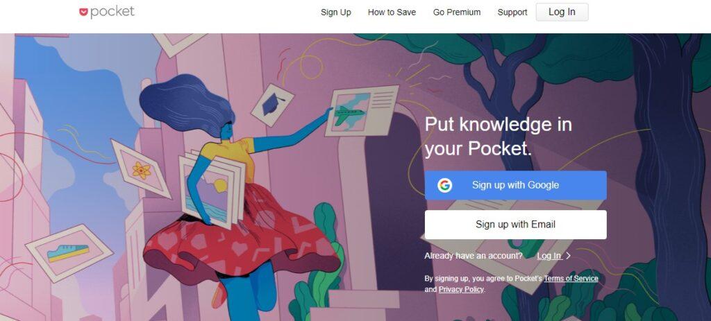 Pocket- best site to find blog ideas