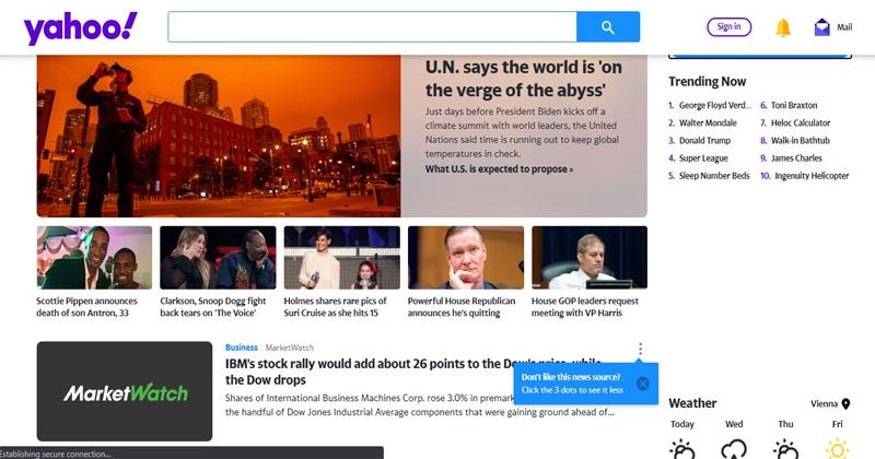 Make Yahoo my Homepage on 4 Best Web Browsers